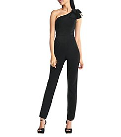 Adrianna Papell One Shoulder Bow Detail Jumpsuit