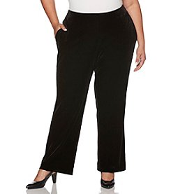 Rafaella Plus Size Stretch Velour Pants