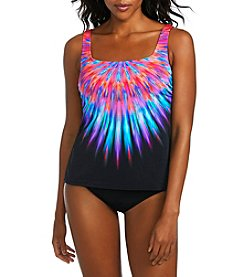 Active Spirit Tie-Dye Tankini Top