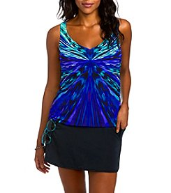 Active Spirit Bright Abstract Pattern Tankini Top