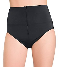 Active Spirit Zip Up High Waist Swim Suit Bottoms