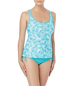 Beach House Tropical U Neck Tankini Top