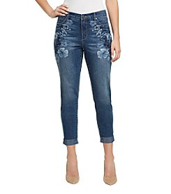 Gloria Vanderbilt Amanda Embroidered Roll Up Ankle Jeans
