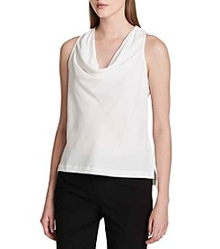 Calvin Klein Cream Cowl Neck Blouse