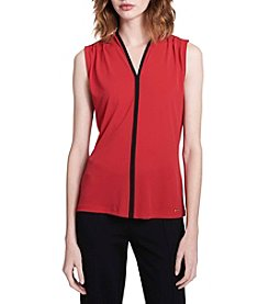 Calvin Klein V-Neck Center Piping Tank Top