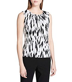 Calvin Klein Tin Mlt Ikat Pleat Neck Cami