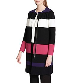 Calvin Klein Color Blocked Long Cardigan