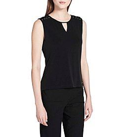 Calvin Klein Keyhole Neck Lacing Top