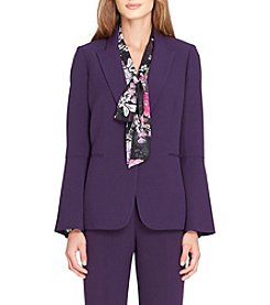 Tahari ASL Trumpet Sleeve One Button Blazer