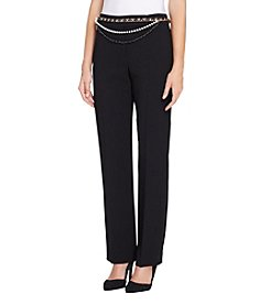 Tahari Multi Strand Chain Belt Pants