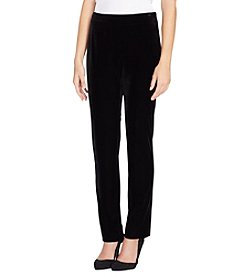 Tahari Velvet Pull On Pants