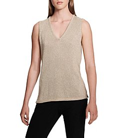 Calvin Klein Metallic V-Neck Top