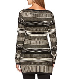 Rafaella Mixed Pattern Stripe Sweater
