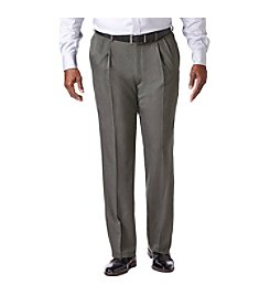 Haggar Men's Pleated Heather Grey Pants