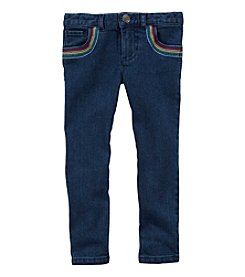 Carter's Girls' 2T-5T Jeggings With Rainbow Pockets