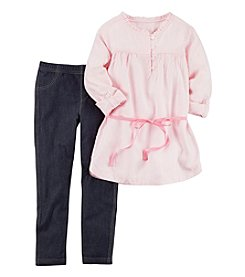 Carter's Girls' 4-8 Long Sleeve Tunic And Denim Jeggings Set