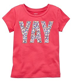 Carter's Girls' 4-8 Short Sleeve Yay Glitter Tee