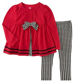 Kids Headquarters Girls' 2T-4T 2 Piece Long Sleeve Tunic And Leggings Set