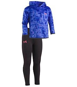 Under Armour Girls' 2T-4T Painted Streaks Hoodie And Leggings Set