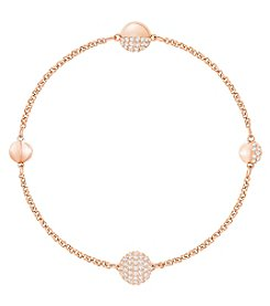 Swarovski Rose Goldtone Remix Strand Sphere Crystal Necklace
