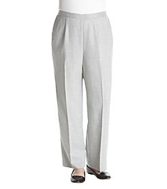 Alfred Dunner Plus Size Flat Front Pants