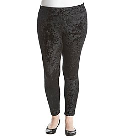 no comment Plus Size Velvet Leggings
