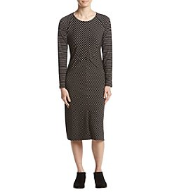 Studio Works Petites' Stripe Design Sheath Dress