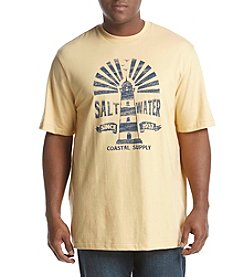 IZOD Men's Big & Tall Saltwater Lighthouse Graphic Tee