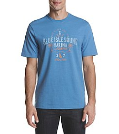 IZOD Men's Blue Isle Sound Marina Graphic Tee
