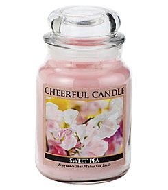 Cheerful Candle Large Pink Sweet Pea Jar Candle