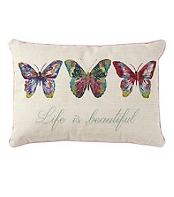 Living Quarters Life Is Beautiful Butterfly Decorative Pillow