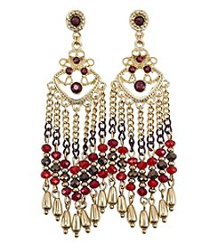 Relativity Beaded Fringe Drop Earrings