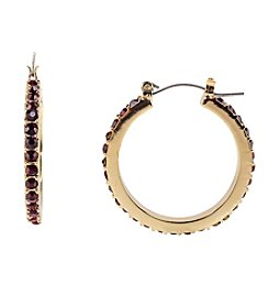 Relativity Red Pave Hoop Earrings