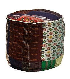 Elements Cylinder Patchwork Pouf