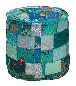 Elements Round Patchwork Pouf