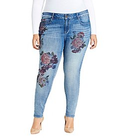 William Rast Plus Size Perfect Skinny Floral Printed Jeans