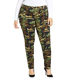 William Rast Plus Size Utility Camo Print Pants