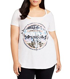 William Rast Plus Size Riot Cutout Rocker Tee
