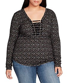 William Rast Plus Size Adeline Henley With Harness Detail Top