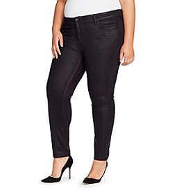 William Rast Plus Size Perfect Skinny Faux Suede Pants