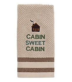 Avanti® Cabin Words Fingertip Towel