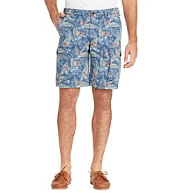 IZOD Men's Printed Cargo Beachtown Shorts