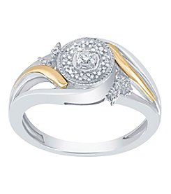 Two Tone .10ct tw Ring