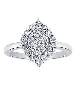 10K White Gold .33 Ct. t.w. Diamond Ring