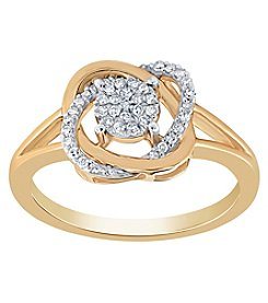 10K Gold .16 Ct. T.W. Diamond Ring