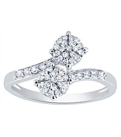 10K White Gold .25 Ct. T.W. Diamond Ring