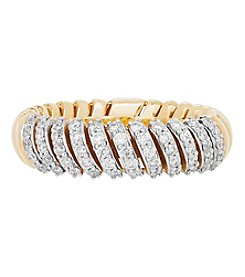 10K Yellow Gold .125 Ct. T.W. Diamond Band