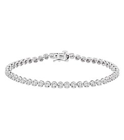 10K White Gold 0.33ct Diamond Diaura Link Bracelet
