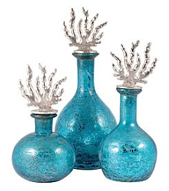 The Pomeroy Collection Set of 3 Reef Decanters
