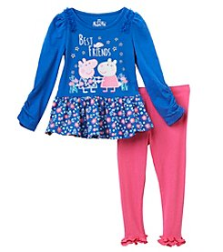 Peppa Pig Girls' 2T-6X Peppa Pig Legging Set